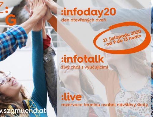 1. online den otevřených dveří ve Školním centru Gmünd